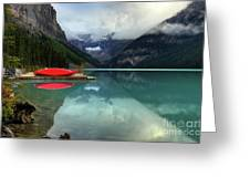 The Breathtakingly Beautiful Lake Louise Banff National Park Greeting Card