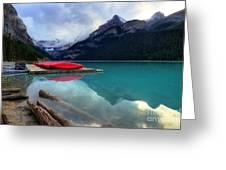 The Breathtakingly Beautiful Lake Louise Iv Greeting Card