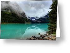 The Breathtakingly Beautiful Lake Louise Vi Greeting Card