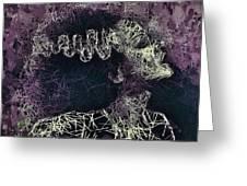 The Bride Of Frankenstein Greeting Card by Al Matra