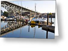 The Bridge And Marina Greeting Card