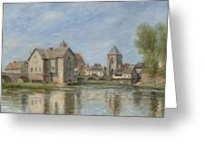 The Bridge And Mills Of Moret Sur Loing Greeting Card