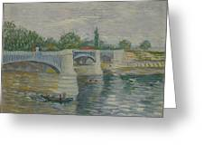 The Bridge At Courbevoie Paris, May - July 1887 Vincent Van Gogh 1853  1890 Greeting Card