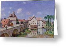 The Bridge At Moret Greeting Card