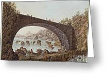 The Bridge At The Border Between France And Savoy Greeting Card