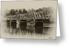 The Bridge At Washingtons Crossing Greeting Card by Bill Cannon