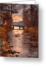The Bridge By The Lake Greeting Card