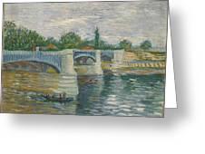 The Bridge Of Courbevoie, Paris Greeting Card