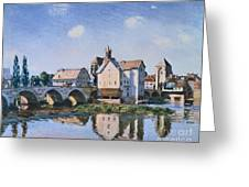 The Bridge Of Moret In The Sunlight Greeting Card