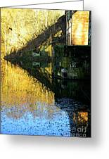 The Bridge On The River And Its Shadow. Greeting Card