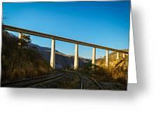The Bridge Over The Railways Greeting Card