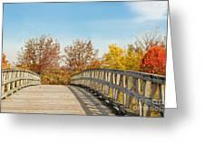 The Bridge To Autumn Greeting Card