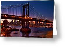 The Bridges At Dusk Greeting Card