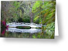 The Bridges In Magnolia Gardens Greeting Card