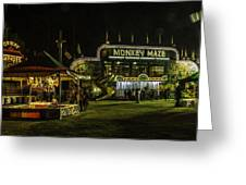 The Bright Carnival Night Lights Greeting Card