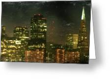 The Bright City Lights Greeting Card