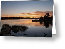 The Brink - Pawcatuck River Sunrise Greeting Card