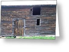 The Broadside Of A Barn Greeting Card
