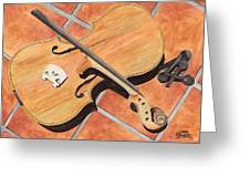 The Broken Violin Greeting Card