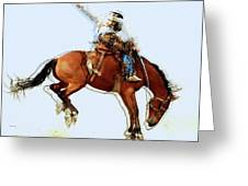 the Bronc Buster Greeting Card