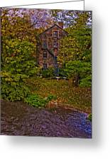 The Bronx River Stone Mill Greeting Card