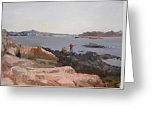 The Bronx Rocky Shore Greeting Card