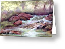 The Brook Greeting Card by Patricia Seitz