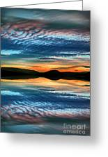 The Brush Strokes Of Evening Greeting Card