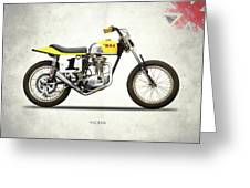 The Bsa 441 Victor Greeting Card