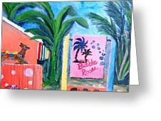 The Bubble Room Captiva Island Florida Greeting Card