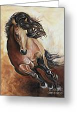 The Buckskin Gallop Greeting Card