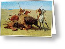 The Buffalo Hunt Greeting Card