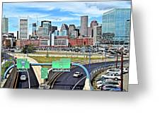 The Buildings Of Boston Greeting Card