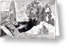 The Bunny Bike Greeting Card