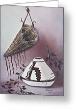The Burden Basket Greeting Card by Alanna Hug-McAnnally