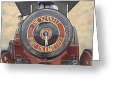 The Burrell Road Locomotive Greeting Card