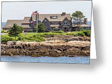The Bush Compound Kennebunkport Maine Greeting Card