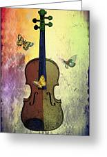 The Butterflies And The Violin Greeting Card