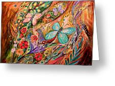 The Butterflies On Wind Greeting Card