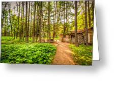 The Cabin In Montana Greeting Card