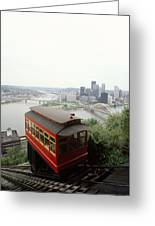 The Cable Car To Mount Washington Greeting Card by Lynn Johnson