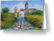 The Cabo Rojo Light House In Puerto Rico Greeting Card