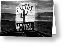 The Cactus Motel Greeting Card
