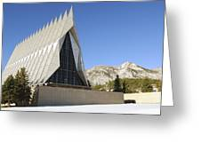 The Cadet Chapel At The U.s. Air Force Greeting Card