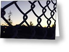 The Caged Morning  Greeting Card