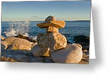 The Cairns Of Hunts Point Nova Scotia Greeting Card