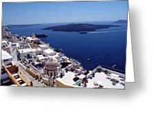 The Caldera, Santorini Greeting Card