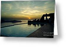 The Caldera View In Santorini Greeting Card