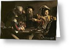 The Calling Of St. Matthew Greeting Card