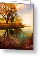 The Calm By The Creek Greeting Card